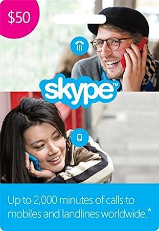 $50 Skype Credit Gift Card [Online Code]