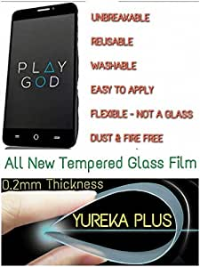 0.2mm UNBREAKABLE TEMPERED GLASS Reusable SCREEN PROTECTOR Film GUARD FOR YU Yureka Plus YU5510 - PS FORTUNET