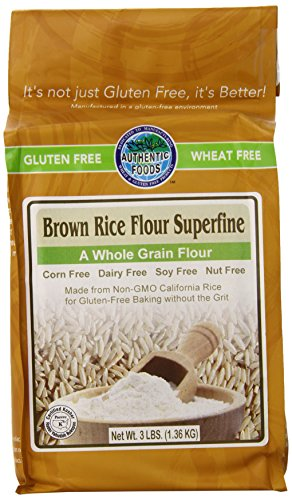 Authentic Foods Gluten Free Brown Rice Flour Superfine -- 3 lbs (Flour Brown Rice compare prices)