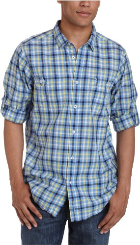 Ben Sherman Socket Long Sleeve Regular Fit Men's Shirt Spring Water XX-Large