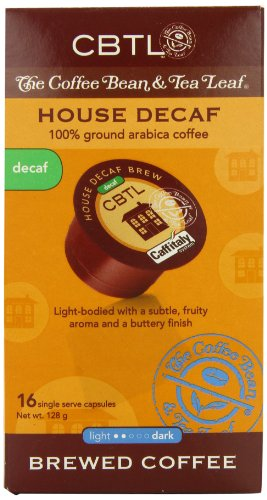Cbtl House Decaf Brew Coffee Capsules By The Coffee Bean & Tea Leaf, 16-Count Box