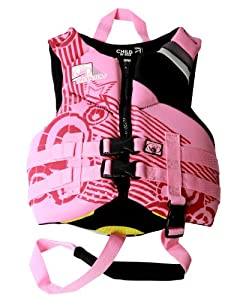 Body Glove Child's Phantom U.S. Coast Guard Approved Neoprene Pfd Life Vest (Pink/Black)