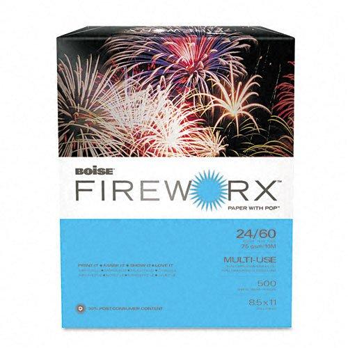 Boise Fireworx Color Copy/Laser Paper, 24 lb, Letter Size (8.5 x 11), Aerial Aqua, 500 Sheets (MP2241-AA)