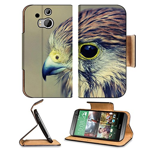 Eagle Baby Hawk Head Beak Predator Htc One M8 Flip Case Stand Magnetic Cover Open Ports Customized Made To Order Support Ready Premium Deluxe Pu Leather 6 4/16 Inch (158Mm) X 3 4/16 Inch (82Mm) X 9/16 Inch (14Mm) Liil Htc1 Cover Professional M 8 Cases M_8 front-899560