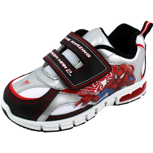 Marvel Heroes Boy'S Spiderman Sps904 Fashion Sneakers,White/Black,7 front-1060359
