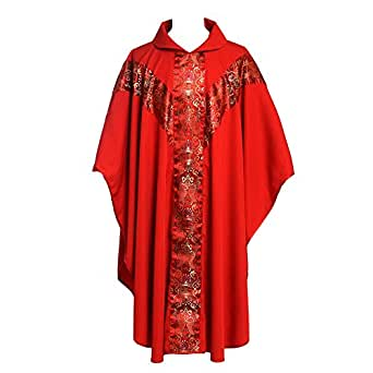 Blessume Church Vestments Priest Clergy Chasuble Catholic Mass Apparel Robe At Amazon Men S