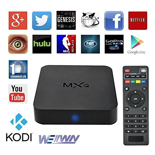 MXQ TV BOX Android 4.4 Amlogic S805 Quad Core 1G/8GB Kodi (15.2) Fully Loaded Wifi, 1080P, 4k Streaming Media Player (Android Boxes compare prices)