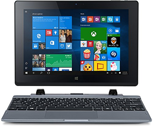 One 10 (S1002-10HU) 25.65 cm (10,1 Zoll HD IPS) Convertible Notebook (Intel Atom Z3735F, 2GB RAM, 32GB eMMC, Intel HD Graphics, Touchscreen, Win 10 Home) grau