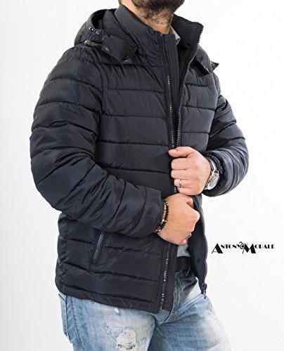 Giacca giubbotto bomber da uomo invernale Antony Morale con cappuccio Parka piumino (XXL)