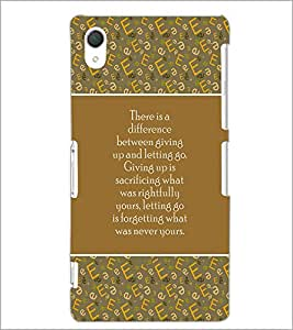 PrintDhaba Quote D-3170 Back Case Cover for SONY XPERIA Z3 (Multi-Coloured)