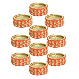 Kriti Creations Set Of 10 Traditional Wax Filled Clay Diyas - B0179C3O5E