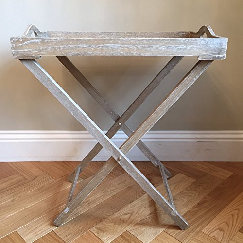 LX By Luxe Florence Butlers Tray Table Natural