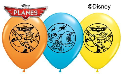 "Disney's Planes 11"" Latex Balloons Assorted Package of 12 - 1"