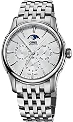 Oris Artelier Complication Automatic Silver Dial Stainless Steel Watch 781-7703-4051MB