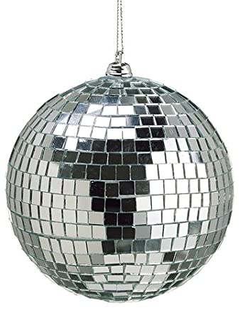Silver Mosaic Disco Ball Christmas Ornaments - Set of 12 by Silk Plants Direct