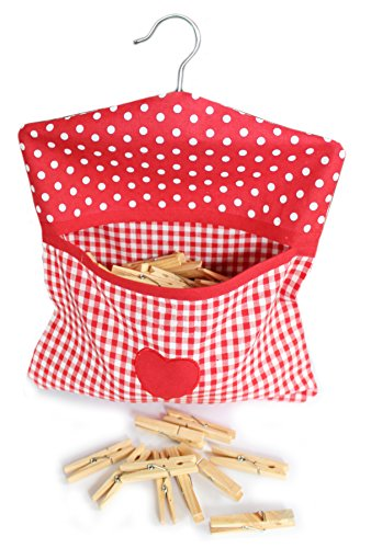 retro-style-vintage-home-red-white-gingham-check-polka-dot-premium-quality-cotton-peg-bag-with-cloth