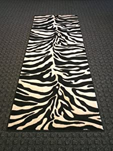 Amazon Com Carved Zebra Rug Runner 32 In X 7 Ft