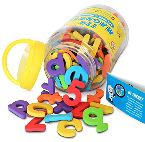 Magnetic-Letters-and-Numbers-by-Curious-Columbus-Set-of-114-Premium-Quality-ABC-123-Colorful-Foam-Alphabet-Magnets-Top-Rated-Best-Educational-Toy-for-Preschool-Learning-Spelling-Counting