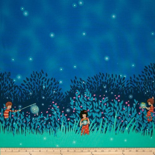 michael-miller-wee-wander-summer-night-lights-double-border-twilight-fabric-by-the-yard-by-michael-m