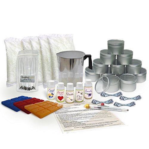 Soy Wax Large Candle Making Kit - With 5 lbs of Wax, Scent and Wax Dye (Wax Pitcher Candle Making compare prices)