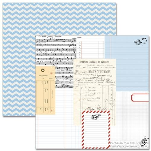 """Stationary Noted Double-Sided Cardstock 12""""X12""""-Ledgers  25 per pack"""