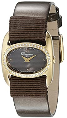 Salvatore Ferragamo Women's FIE050015 VARINA Analog Display Quartz Brown Watch