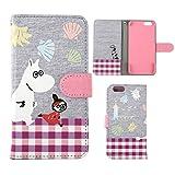 iPhone6s iPhone6 ケース 手帳型 カバー ムーミン スウェット カード収納 ストラップホール付き / ムーミン&リトルミイ