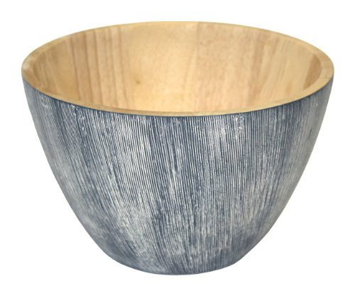 Mountain Woods Art Deco Blue Bowl