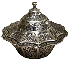 Bol loukoums sucrier oriental turc marocain couleur argent for Maison classique emporium