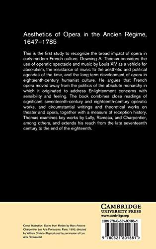 Aesthetics of Opera in the Ancien Régime, 1647-1785 (Cambridge Studies in Opera)