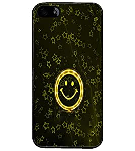 PrintDhaba Smily D-3982 Back Case Cover for APPLE IPHONE 4S (Multi-Coloured)