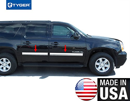 Made In USA! 2010-2014 Chevy Suburban/GMC Yukon XL Rocker Panel Chrome Stainless Steel Body Side Moulding Molding Trim Cover 4.25
