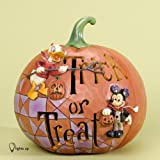 Jim Shore for Enesco Disney Traditions Pumpkin Trick or Treat Figurine, 7-Inch