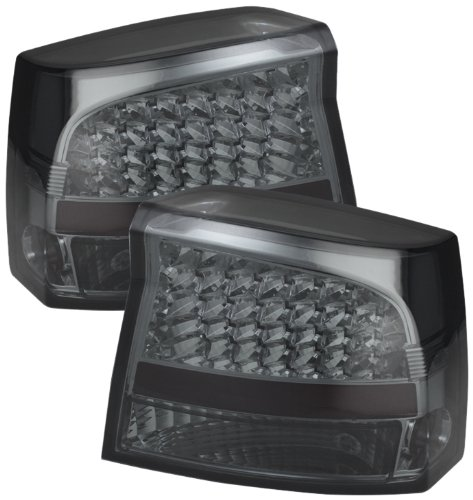 Spyder Auto (Alt-Jh-Dch05-Led-Sm) Dodge Charger Smoke Led Tail Light - Pair