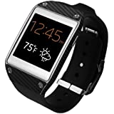 Skinomi® TechSkin - Samsung Galaxy Gear Screen Protector + Carbon Fiber Full Body Skin / Front & Back Premium HD Clear Film / Ultra Invisible and Anti Bubble Shield with Free Lifetime Replacement