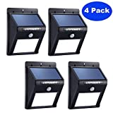 Solar Light,URPOWER 8 LED Outdoor Solar Powerd,Wireless Waterproof Security Motion Sensor Light for Patio, Deck, Yard, Garden,Driveway,Outside Wall with 2 Modes Motion Activated Auto On/Off(4 Pack)