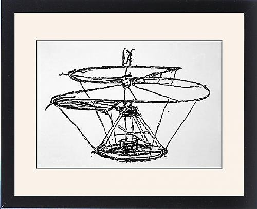 Framed Print Of Leonardo Helicopter front-1042239