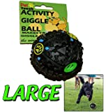 PET DOG PUPPY GIGGLE FOOD BALL TREATS TRAINING SOUND PLAY TOYS SQUEAKY ACTIVITY