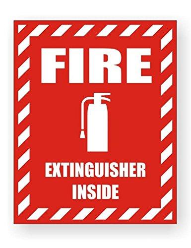 1 Pcs Extraordinary Modern Fire Extinguisher Inside Car Sticker Vinyl Camper Labels Compliance Badge Emergency Permit Size 3-3/4