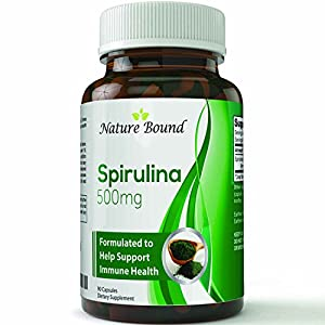 Natural Spirulina Tablets Extract Blue-Green Algae Dietary Supplement Chlorophyll Powerful Antioxidant Nutrient Dense Superfood Packed with Vitamins and Minerals Promotes Weight Loss & Immune Support