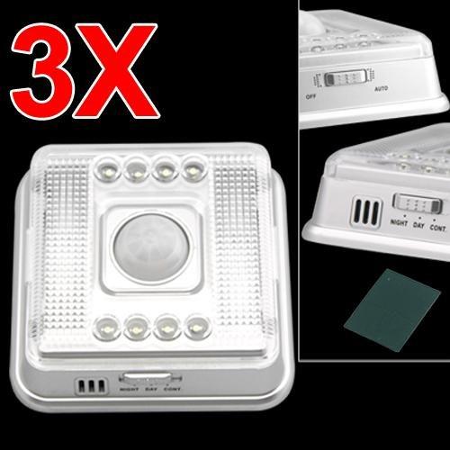 3 LAMPADE NOTTURNA SENSORE DI MOVIMENTO INFRAROSSI 8 LED - Illuminazione per ...