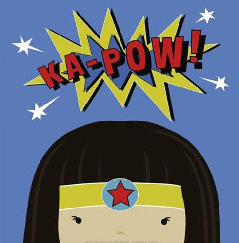 "Peek-A-Boo Supergirl by Yuko Lau 12""x12"" Art Print Poster"