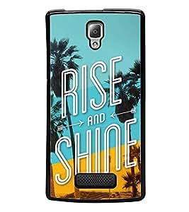 Rise and Shine 2D Hard Polycarbonate Designer Back Case Cover for Lenovo A2010