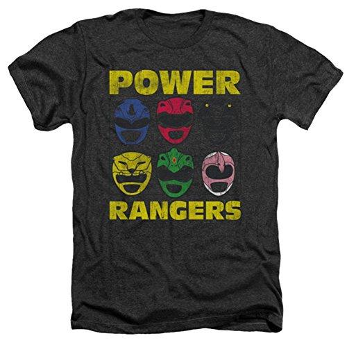 Mighty Morphin: Power Rangers - Ranger Heads Heather T-Shirt