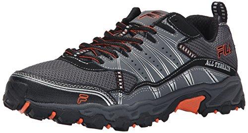 Fila Men's AT Tractile Running Shoe, Pewter/Black/Vibrant Orange, 11 M US (Fila Shoes compare prices)