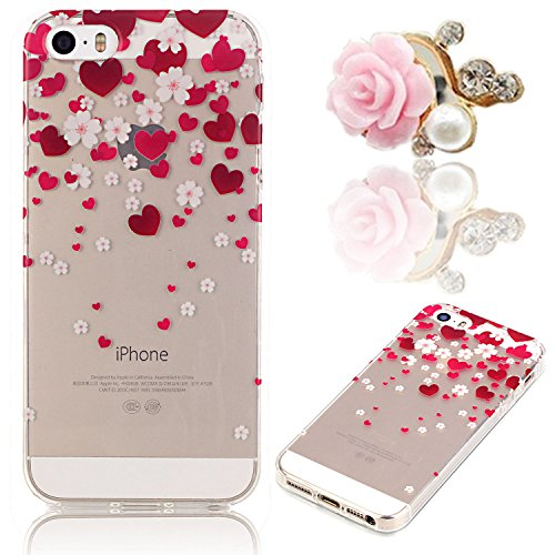 iphone-5-5g-5s-se-5se-clear-case-sunroyal-ultra-thin-slim-soft-gel-transparent-flexible-tpu-case-sho