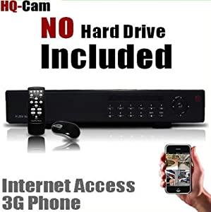 HQ-Cam 16 CH Channel CCTV Surveillance Network Security DVR System (Hard Drive NOT Included) - Real Time 3G Mobile