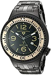 Swiss Legend Men's 21819P-BB-11-BG Neptune Force Analog Display Swiss Quartz Black Watch