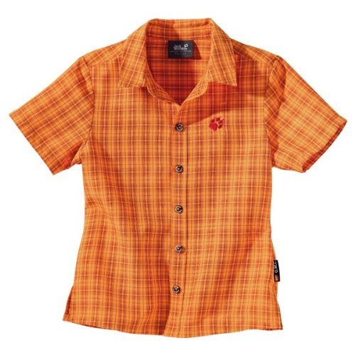 Jack Wolfskin KIDS TUMBLEWEED SHIRT rusty orange checks