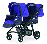Bebecar One and Two Tandem Pushchair Chassis (Black/ Violet)